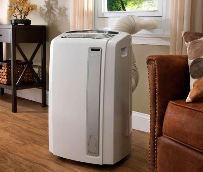 Climatisation mobile dans un salon
